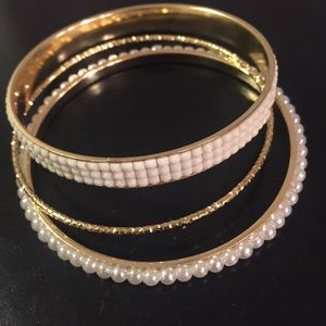 Little Something Bundle White & Goldtone Bracelets